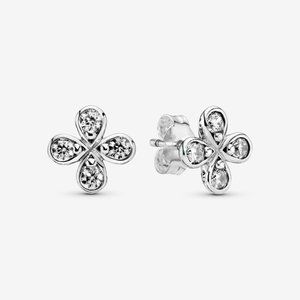 💡Pandora Four-Petal Flower Stud Earrings